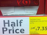 The half price offer in Tesco express told customers the previous price was £7 - but the new price was £7.35