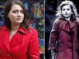 Oliwia Dabrowska, 24, who played a little girl in red coat in film