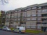 Tragic: The child plunged from the third floor of a building in Pollokshields, Glasgow, at about 10.20am