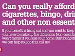 Eastland Homes issued a newsletter advising tenants to cutback on satellite television and cigarettes in preparation for benefit cuts when the bedroom tax is introduced
