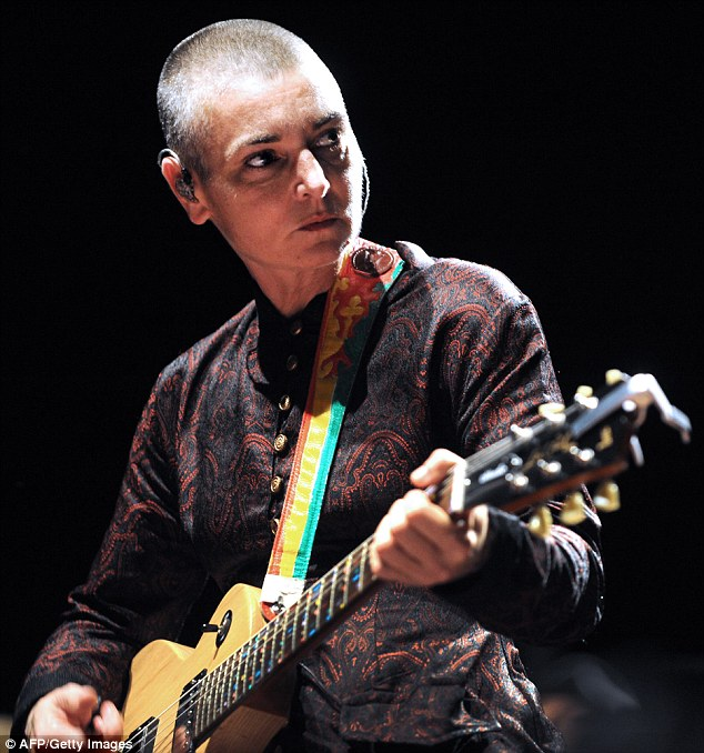 Outraged: Irish singer Sinead O'Connor lashed out this week at Rolling Stone for putting Kim Kardashian on its cover, saying the magazine had 'murdered' music by doing it